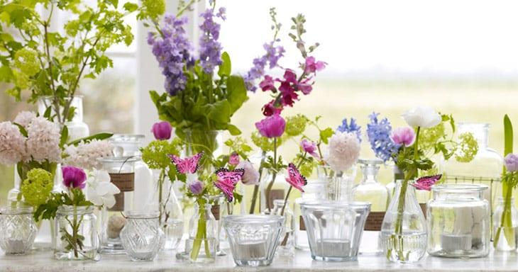 Pink White Purple Diy Centerpieces Budget Friendly Wedding Flowers Vintage Vases