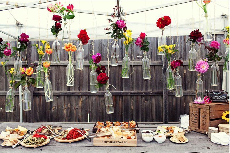 Surprise Backyard Picnic Wedding Diy Centerpieces