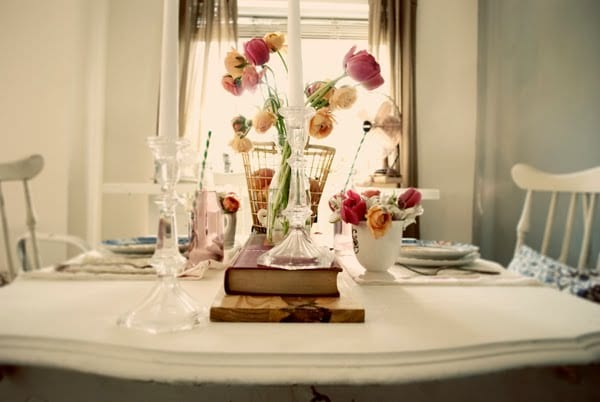 Tulips Spring Wedding Ideas Vintage Tablescape