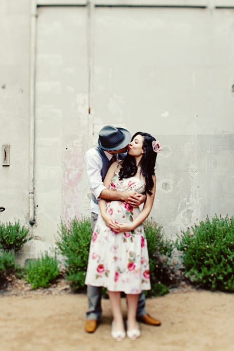 vintage-inspired-backyard-wedding-floral-dress-pink-roses