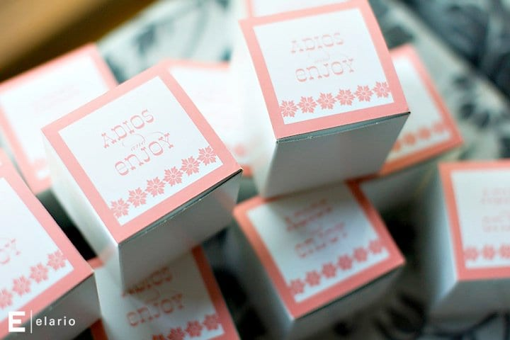 Mexican Fiesta Theme Wedding Favor Box Ideas