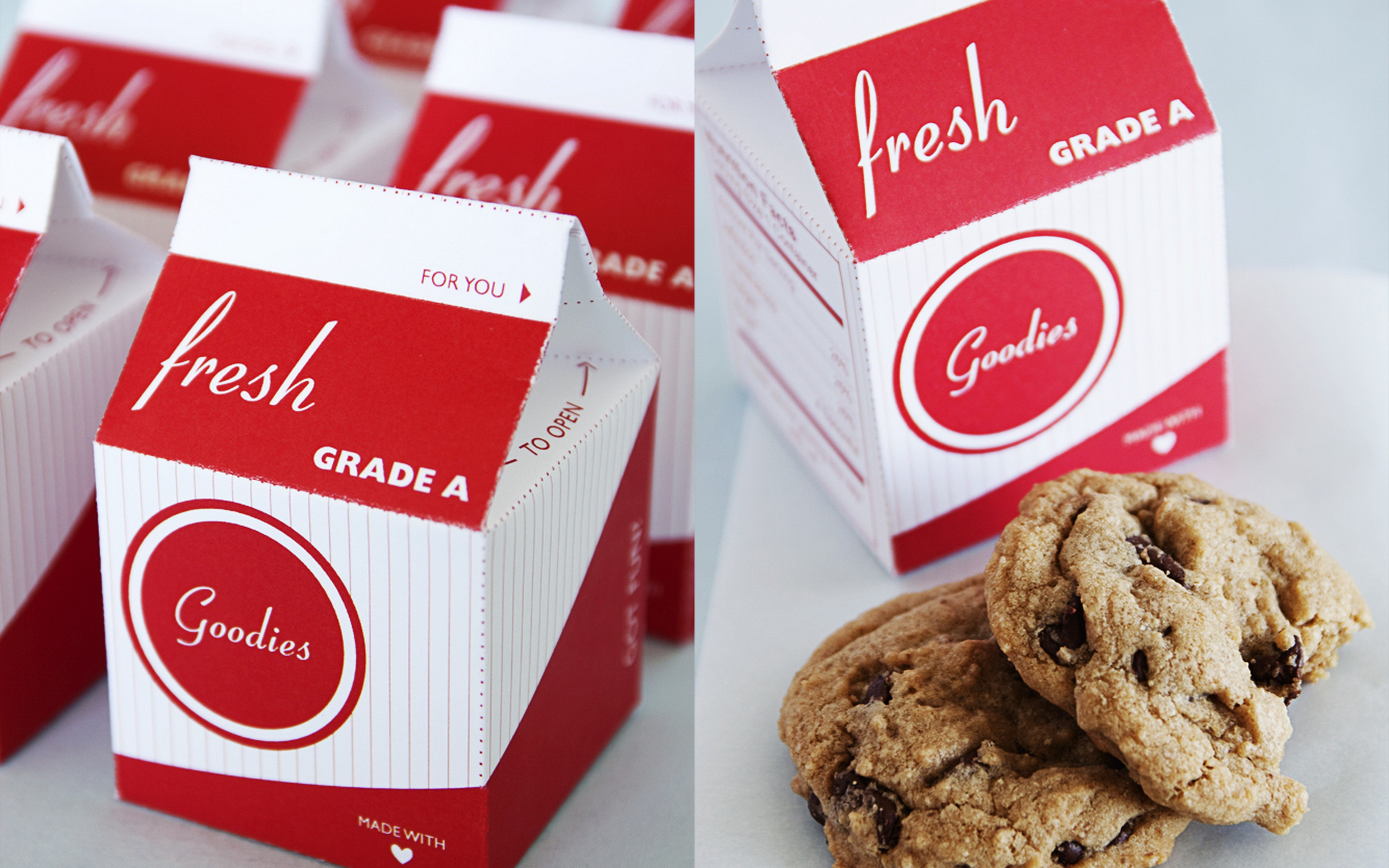 Milk + Cookie Favor Printables - The Sweetest Occasion