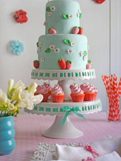 Pink and Blue Strawberry Birthday Party thumbnail