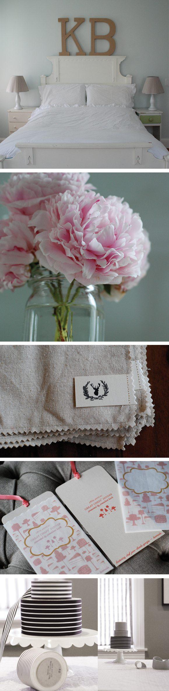 white-bedroom-pink-peonies-chelle-paperie-custom-invitations