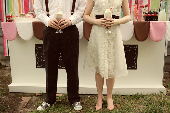 wedding ideas 2010 a retro milkshake bar the sweetest occasion 28047