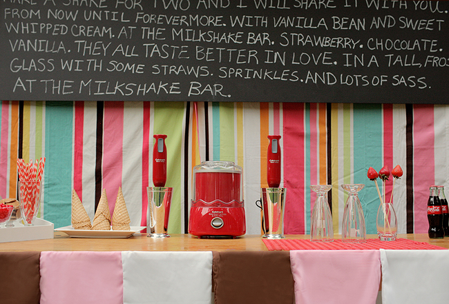 Retro Milkshake Bar Unique Wedding Ideas 19