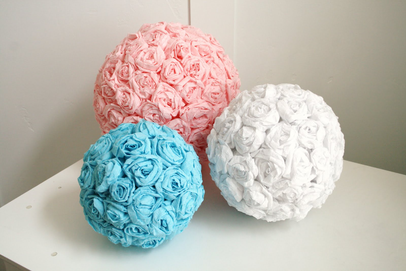 Diy crepe paper flower pomanders the sweetest occasion the crepe paper flower pomader how adorable are these theyd be perfect as decor for flower girls or the flowers could even be used to create mightylinksfo