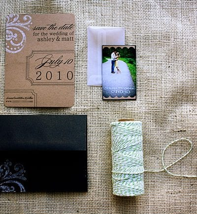 DIY Kraft Paper + Baker's Twine Save the Dates thumbnail