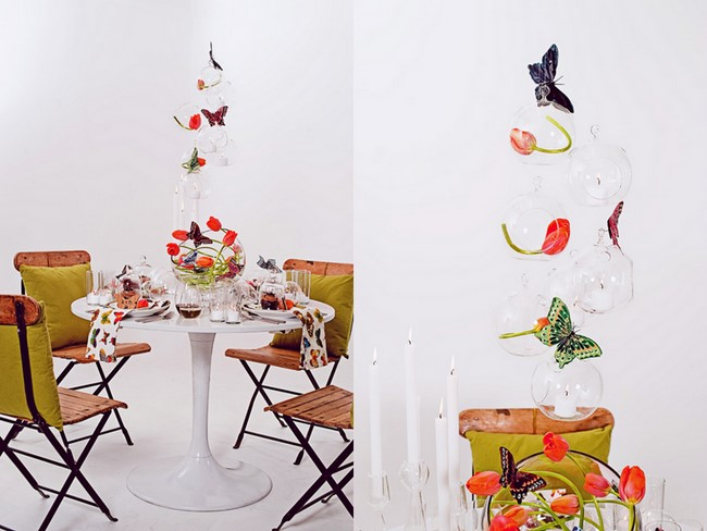 Inspired Creations MidCentury Modern Butterfly Tablescape The Sweetest