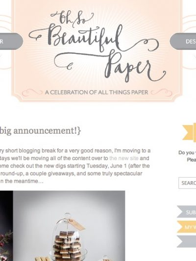 The New Oh So Beautiful Paper + Simplesong Design thumbnail