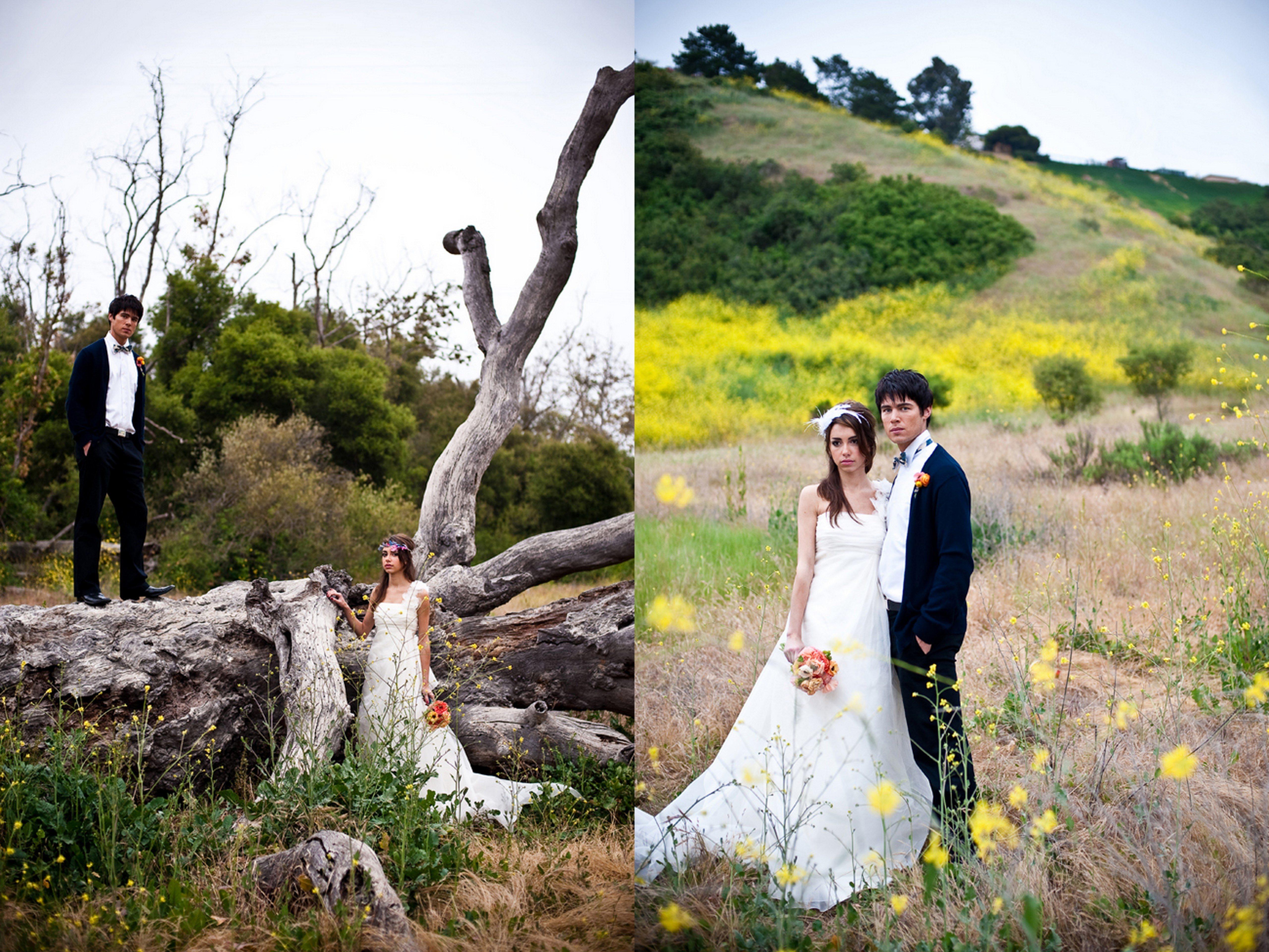 Al fresco california bohemian wedding portraits diy for Where to have an outdoor wedding