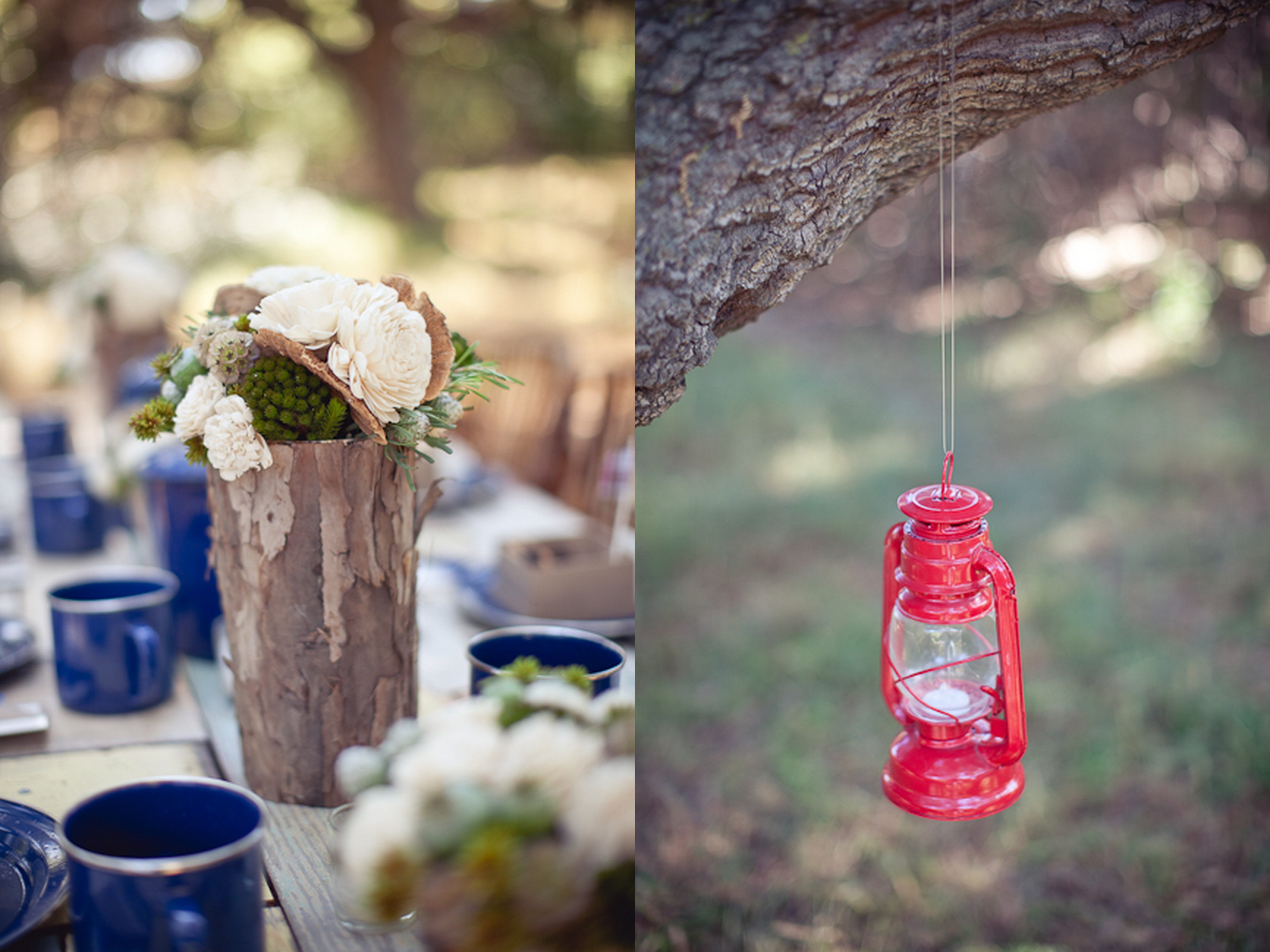 Inspired creations a campsite wedding the sweetest