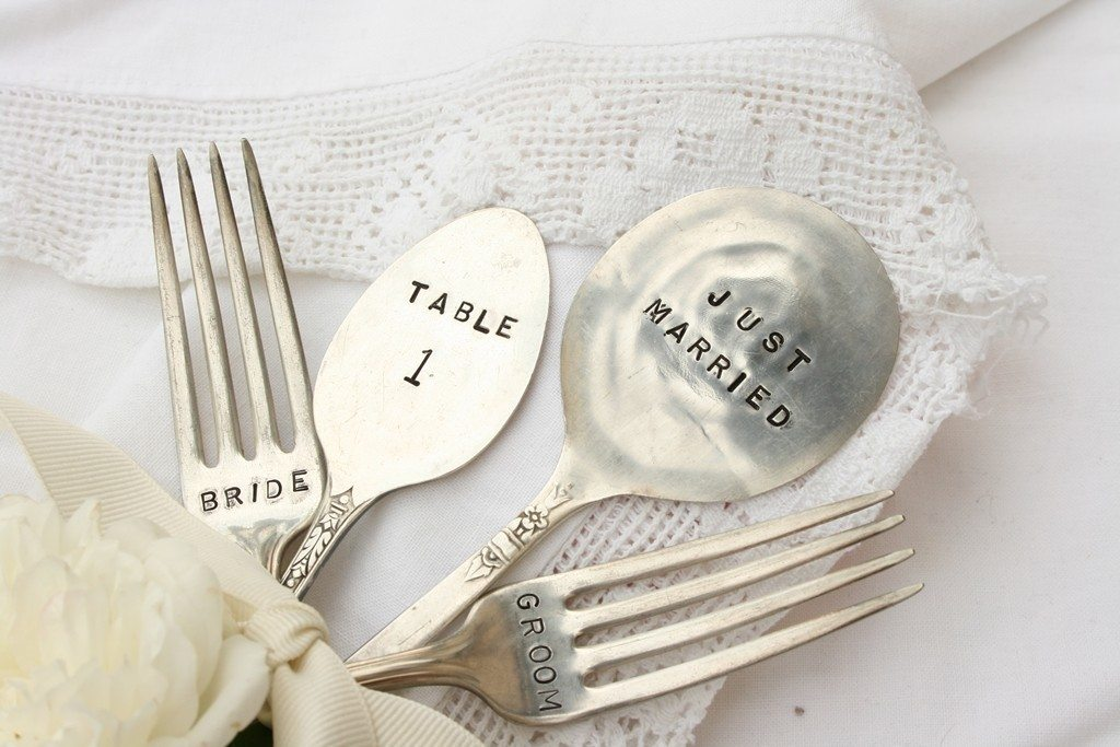 Wedding Gift Engraving Ideas Suggestions : Bliss Weddings Boston Blog: Dress Up Your Wedding Decor with ...