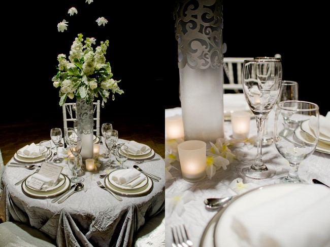 White And Silver Wedding Theme: Winter Wedding Tablescape