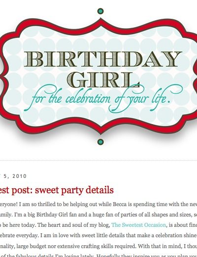 Birthday Girl Guest Post thumbnail