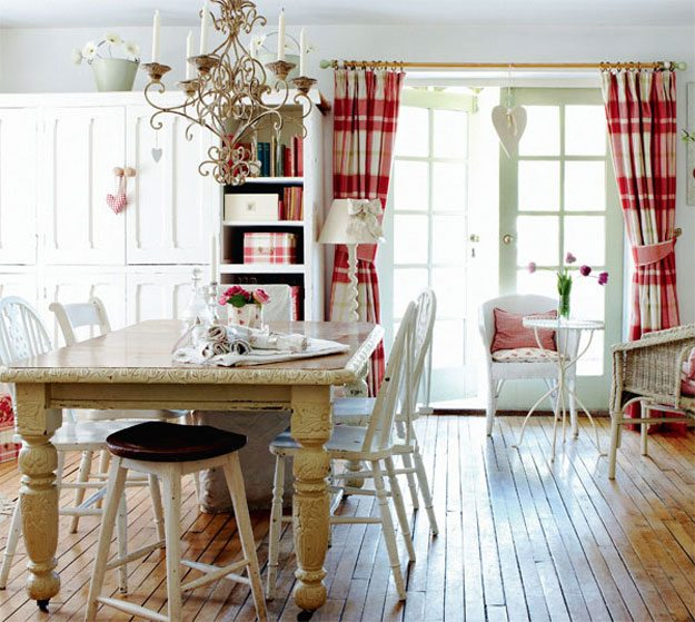 Country Cottage Kitchen Curtains: Estilo Country Cottage