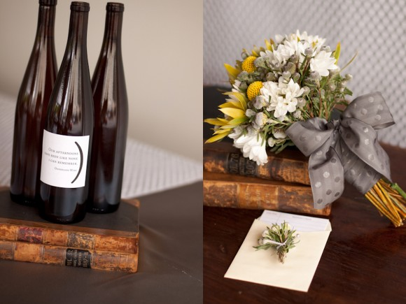 custom-wine-bottles-wedding-reception-yellow-gray-modern-loft-wedding-reception-580x435