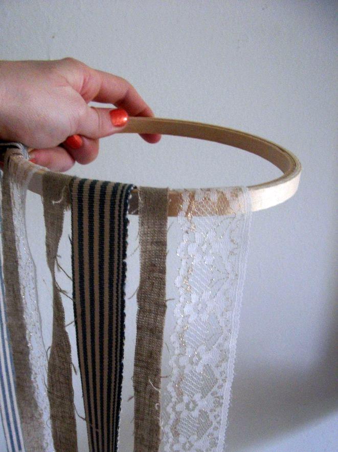 Diy fabric chandelier the sweetest occasion diy fabric hoop craft ideas aloadofball Gallery