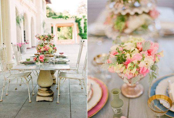 green color palette and all of the romantic vintageinspired details