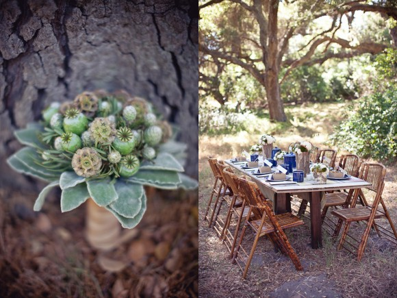 modern-wedding-bouquet-succulents-poppy-pods-rustic-summer-camp-wedding-580x435
