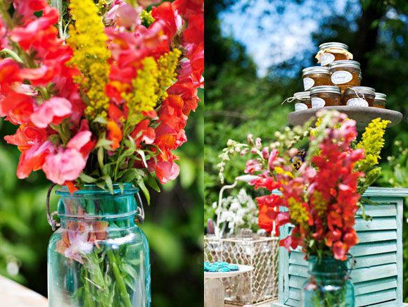 vintage-aqua-mason-jars-honey-jar-favors-4