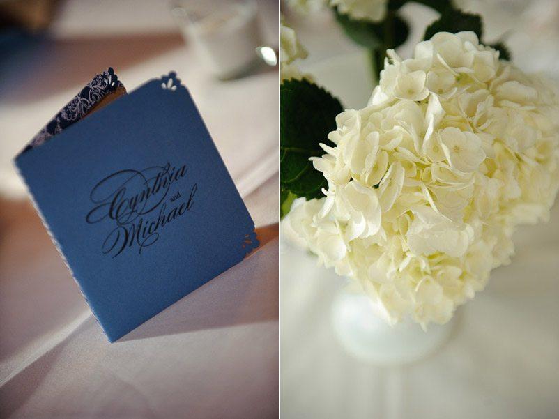 weddingceremonyprogramwhitehydrangeas For Friday 39s festivities we kept