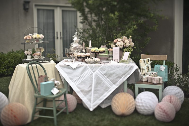 the color palette is lady like and romantic and all of the sweet little touches leave me once again searching for an excuse to host a fabulous tea party for