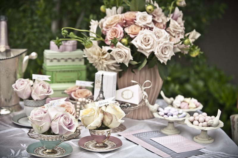 pretty tea party bridal shower inspiration the sweetest. Black Bedroom Furniture Sets. Home Design Ideas