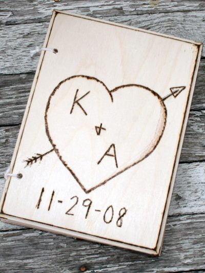 Custom Wood Carving Guest Book thumbnail