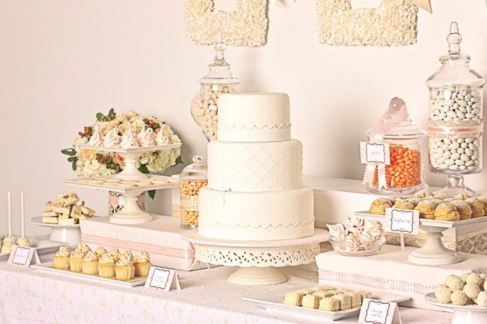 Elegant White Wedding Dessert Buffet The Sweetest Occasion