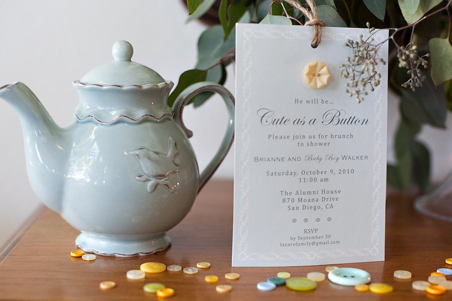 Cute As a Button Baby Shower - The Sweetest Occasion