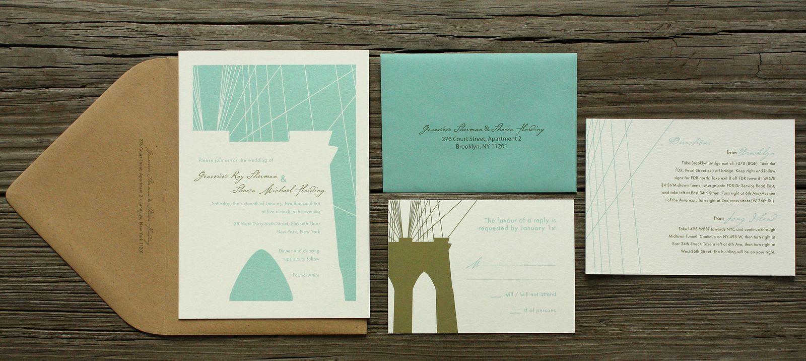 Brooklyn Bride Wedding Invitations