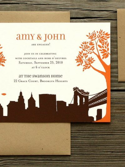 Wedding Invitations by PostScript Brooklyn thumbnail