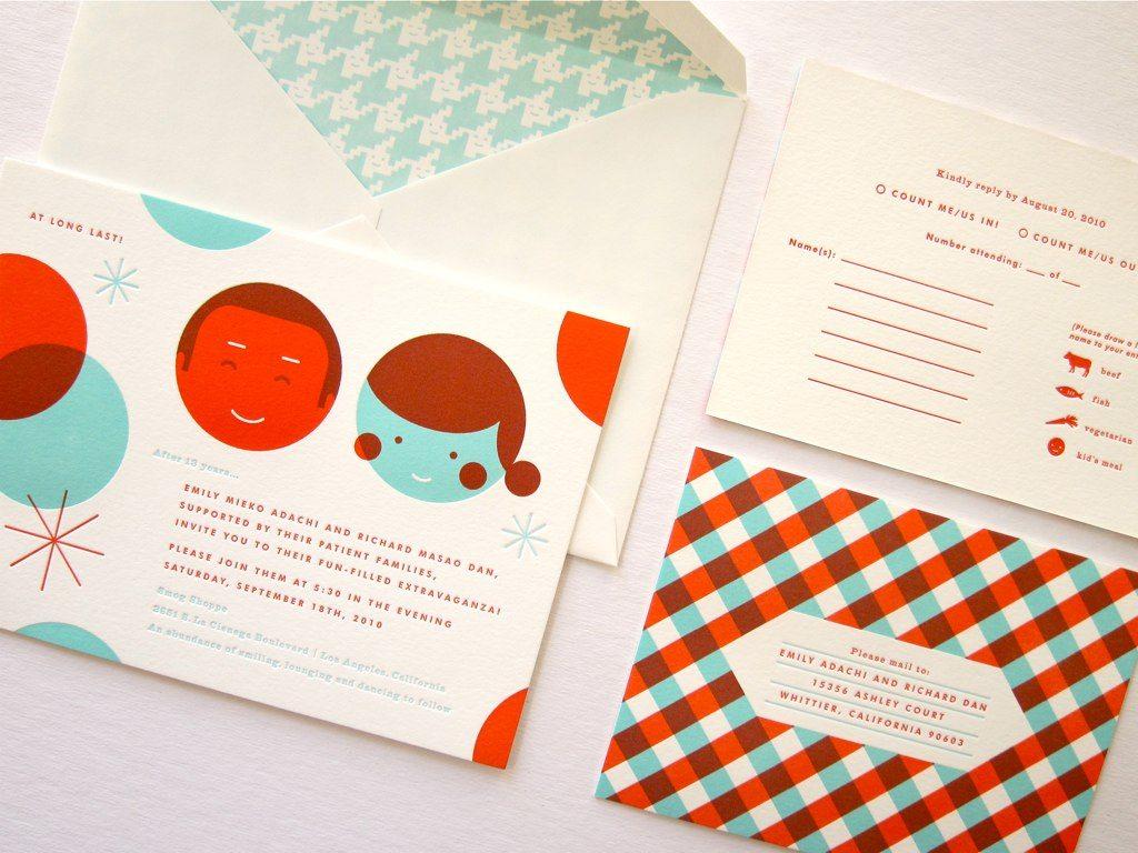 Custom Wedding Invitations from Erin Jang The Sweetest Occasion – Custom Invitations Wedding
