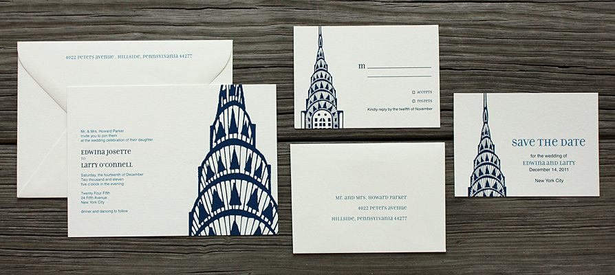 Unique Wedding Invitations New York Photos