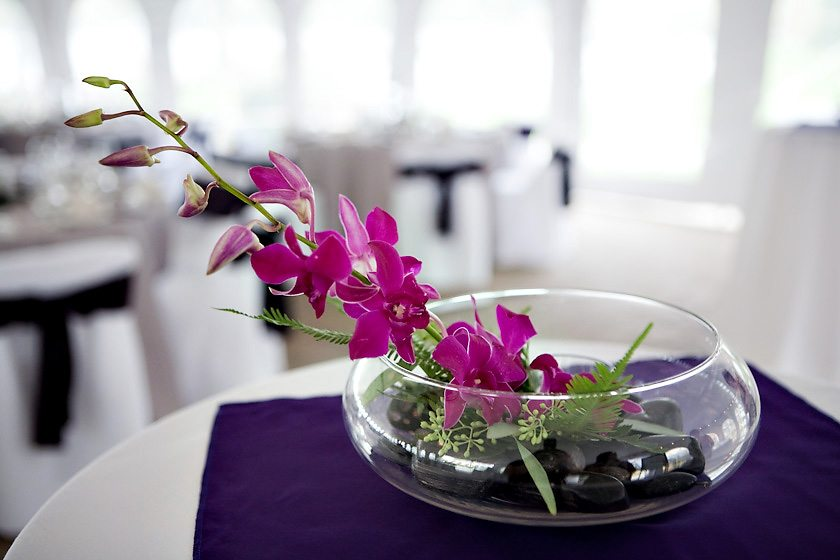 white orchid centerpieces wedding