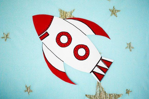 papel do espaço-nave-