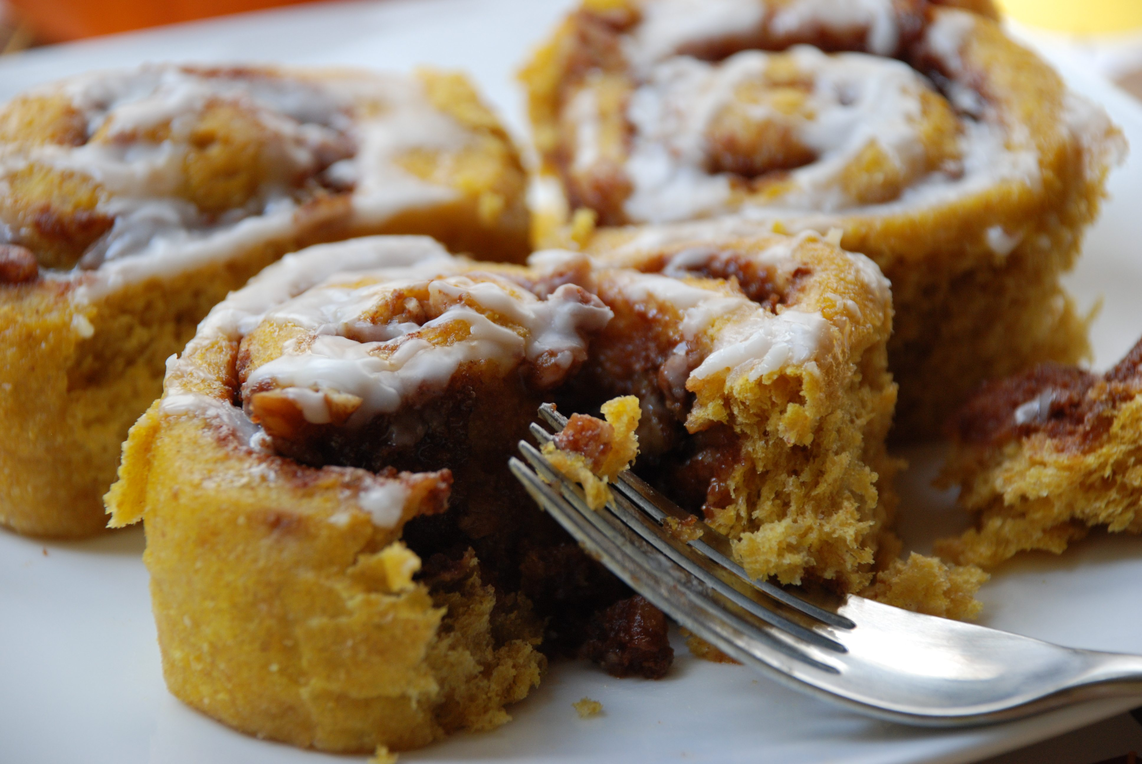 Pumpkin cinnamon rolls from Multiply Delicious .}