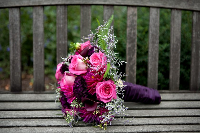 Purple Fuschia Wedding Bouquet