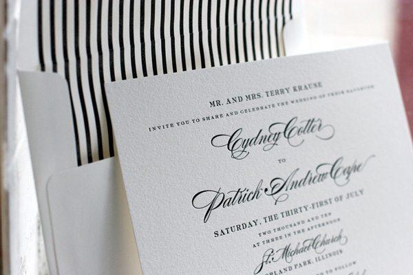 Black White Wedding Invitations: Traditional-black-white-wedding-invitations