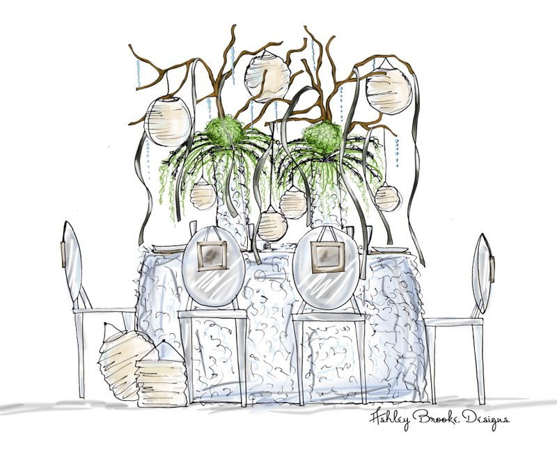 From sketch to reality wedding inspiration the sweetest for Table design sketch