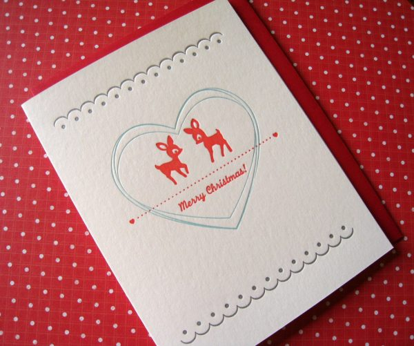 merry-christmas-deer-holiday-cards
