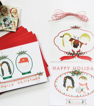 Personalized Holiday Cards from Two Brunettes thumbnail