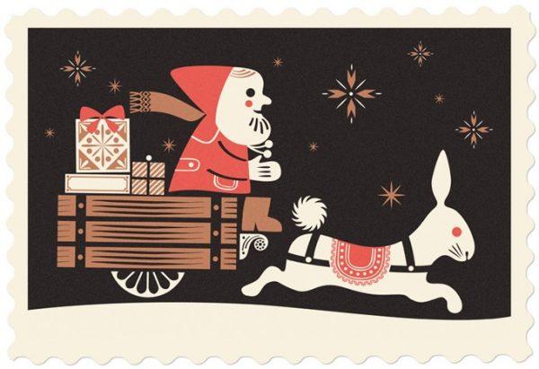 santa-sleigh-holiday-cards