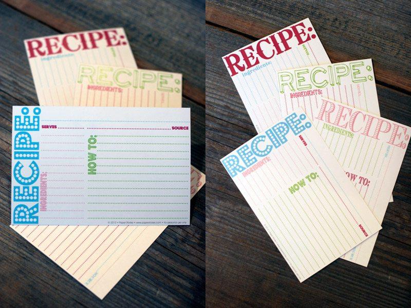 online recipe card