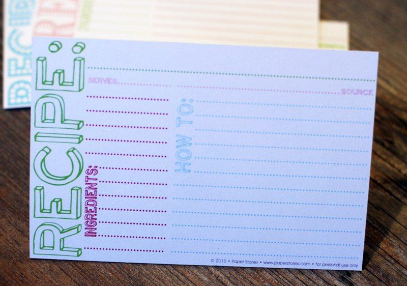 Cookie Swap Recipe Cards Download