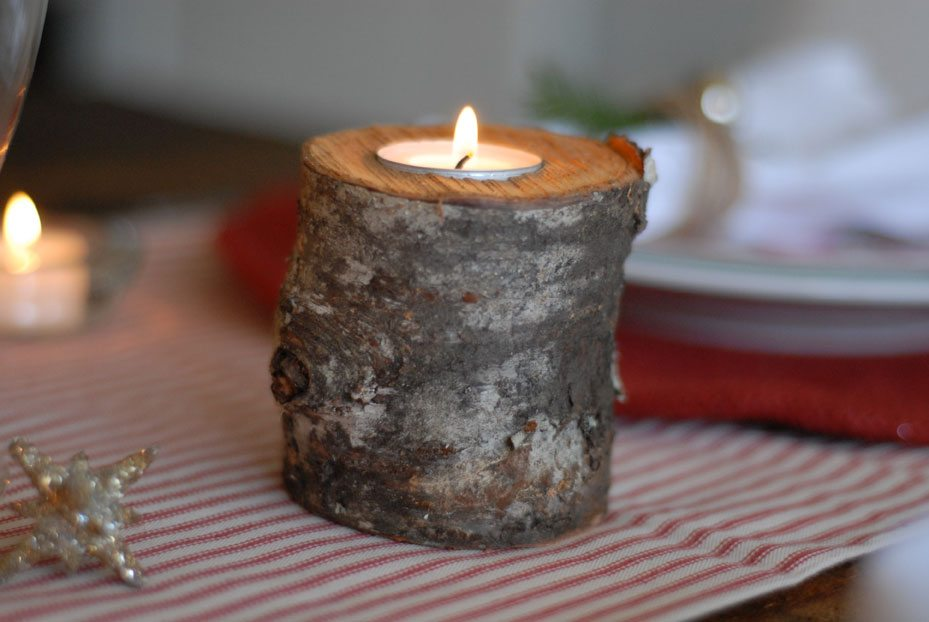 Tree log candle holder the sweetest occasion the for Log candle holder how to make