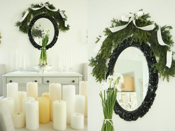 white-green-christmas-decorations