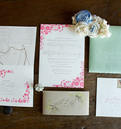 Pretty Country Calligraphy Wedding Invitations thumbnail