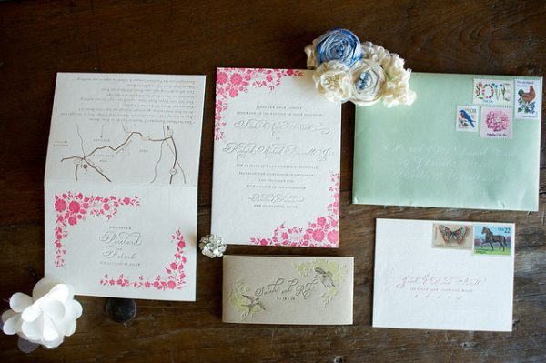 Pretty Country Calligraphy Wedding Invitations The Sweetest Occasion
